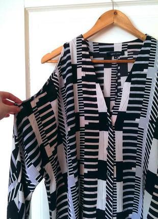 Стильна сорочка/блуза з вирізами на плечах від new look, на р. l/xl