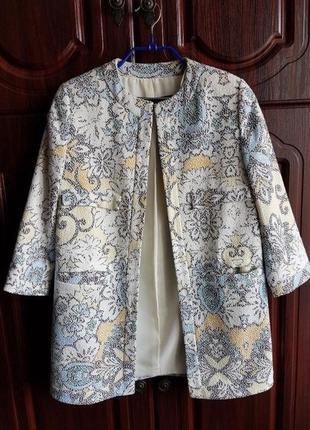 Пальто кардиган zara пиджак жакет весенний
