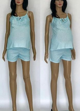 Пижама летняя с шортами для беременных и кормящих