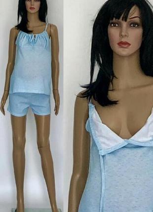 Пижама летняя с шортами для беременных и кормящих мам, майка и шорты