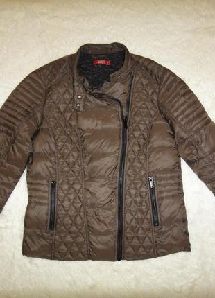 Куртка, стеганая косуха ультра легкий пуховик еdc by esprit р.46 хаки