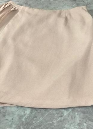 Нежная юбка на запах со вставками из плиссе  ki1914005  topshop2 фото