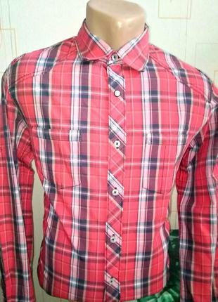 Рубашка в клетку от известной немецкой марки tom tailor denim