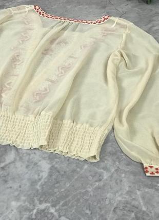 Шифоновая блуза с вышивкой  bl1914161 next2 фото