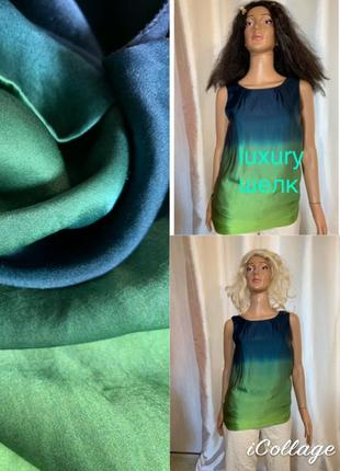 Luxury шелковая блуза натуральный шелк 100% подклада тоже шелк theory