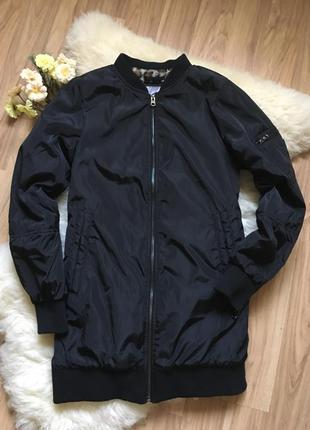 Удлиненная куртка бомбер pull&bear