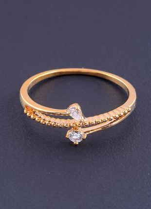 Кольцо фианит (позолота 18к) 0714930