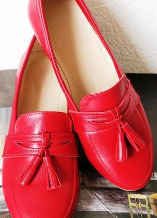 Натуральная кожа красные лоферы весна 2019 loafer мягкие кожаные