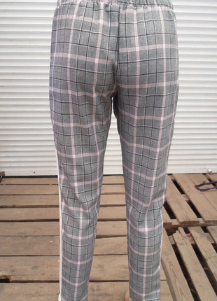 Стильные ,повседневные серые брюки в клетку с лампасами ,англ.длина 3 расцветки  размеры5 фото
