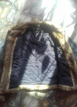 Тепла джинсова куртка2 фото