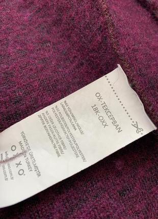 Пальто oxxo шерсть тёплое стильное s m фиолет4 фото