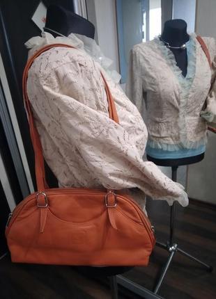 Небольшая сумочка на молнии из натуральной кожи, индия