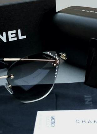 Chanel очки женские солнцезащитные с камнями