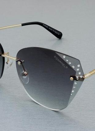 Chanel очки женские солнцезащитные с камнями4 фото