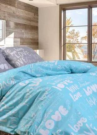 Комплект постельного белья love, размер евро