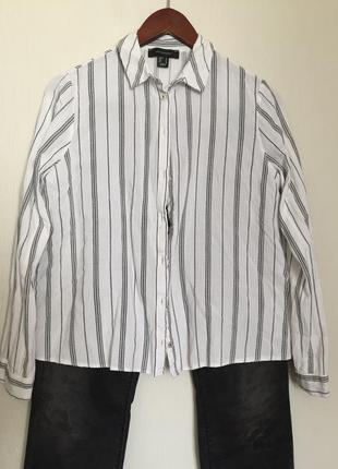 Рубашка в полоску свободная вискоза