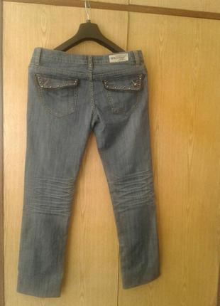 Стильные джинсы серо - голубые,31р-р.2 фото