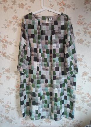 Платье оригинальный принт карманы р. 52-54 jonh lewis
