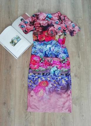 Шикарное платье миди от asos floral print dress