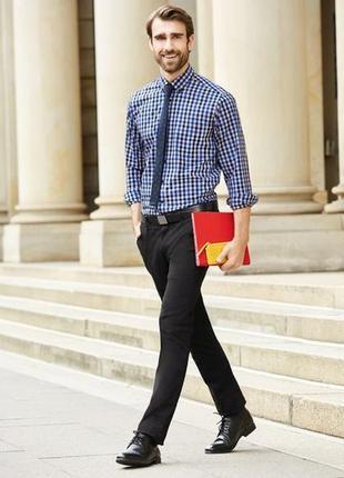 Мужские черные брюки из твила,  фирменные nobel league р.56 евро