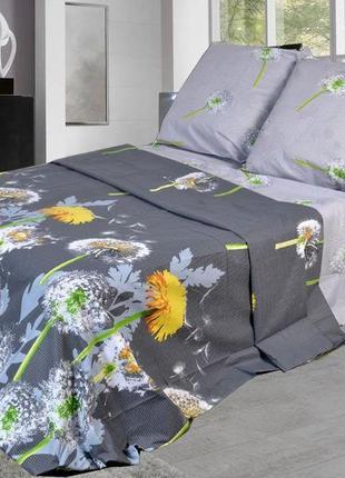 Комплект постельного белья в одуванчики, полуторка1 фото