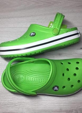 Крокс сланцы тапочки сабо crocs clocband .зелёные green салатовые