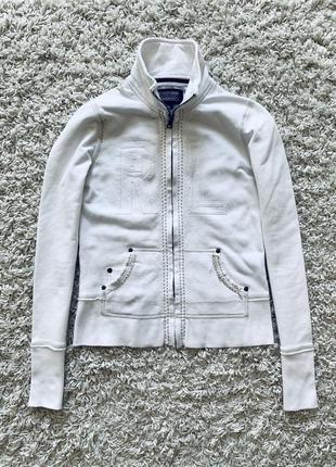 Худи толстовка пайта кофта поло на молнии белая ralph lauren polo jeans оригинал хлопок