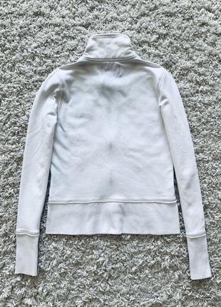 Худи толстовка пайта кофта поло на молнии белая ralph lauren polo jeans оригинал хлопок2 фото
