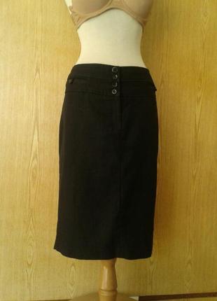 Черная юбка в клетку на высоком поясе, 3xl.