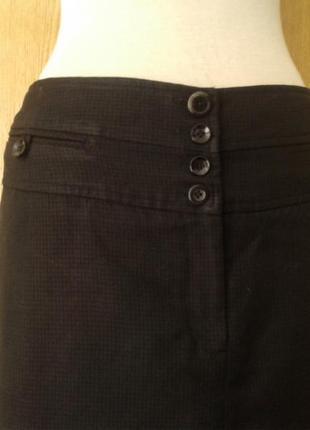 Черная юбка в клетку на высоком поясе, 3xl.2 фото