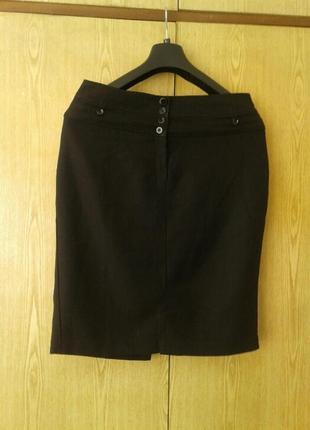 Черная юбка в клетку на высоком поясе, 3xl.3 фото