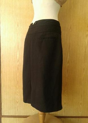 Черная юбка в клетку на высоком поясе, 3xl.4 фото
