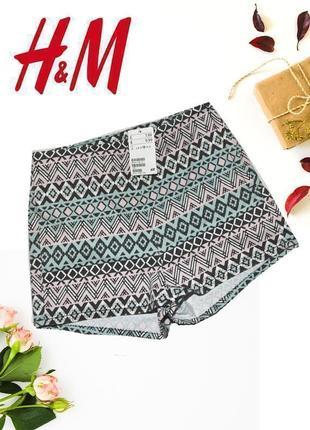 Новые шорты c геометрическим принтом h&m