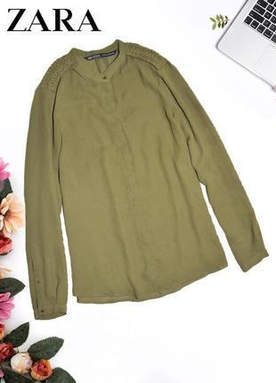 Рубашка с плетеными плечами zara