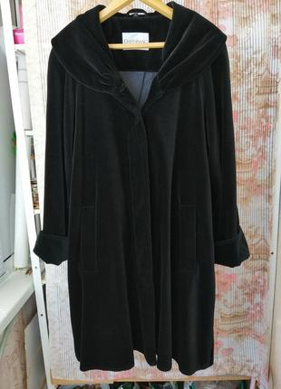 Розкішне велюрове пальто / манто l-xl