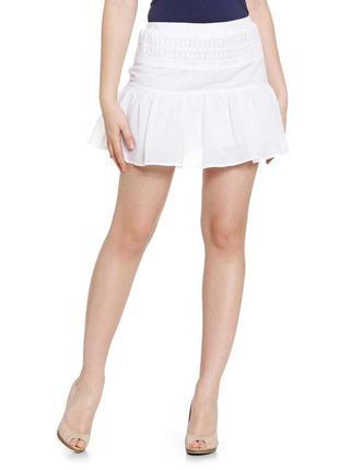 Короткая ажурная легкая юбочка, размер м