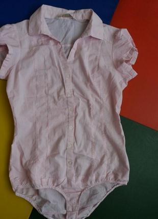 Женская боди рубашка stradivarius m