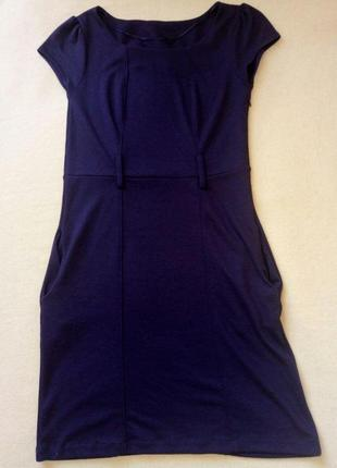 Платье фиолетовое из нежного трикотажа
