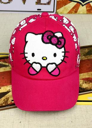 13-162 кепка hello kitty хелло китти детская бейсболка панамка шапка