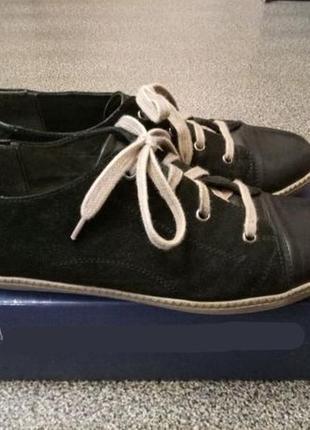 Натур. замшевые кеды-туфли caprice, размер 41