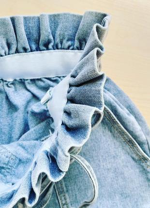 Шорты джинсовые с высокой посадкой мом короткие женские5 фото