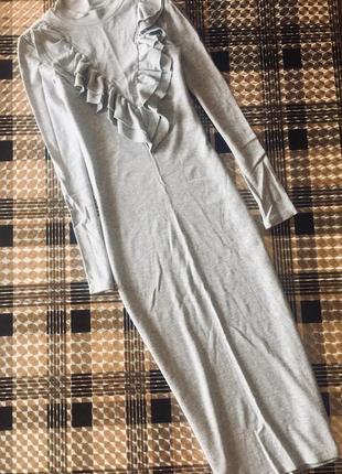Платье по фигуре с воланами h&m