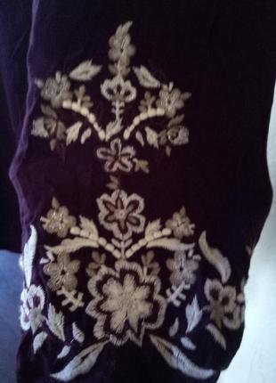 Блуза из вискозы,с вышивкой3