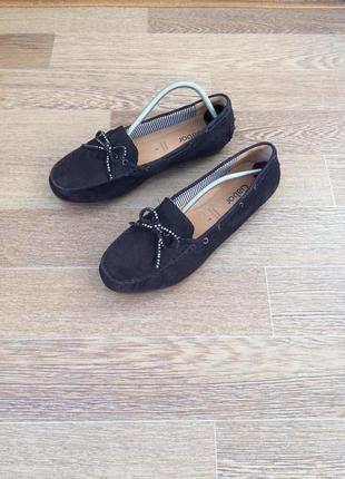 Gabor кожаные балетки туфли 41р 26см 5мм 7р