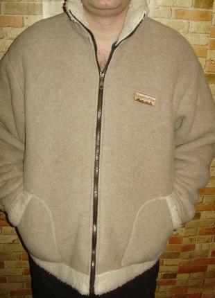 Флисовая теплющая куртка толстовка размера xxl2 фото