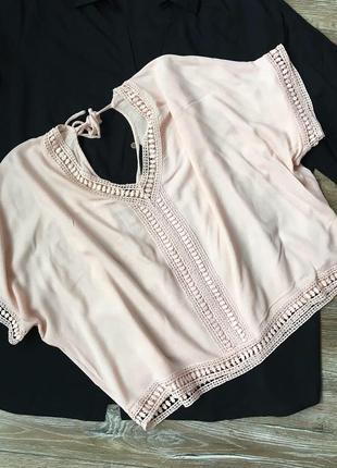 Очень красивая блуза пудрового цвета1 фото