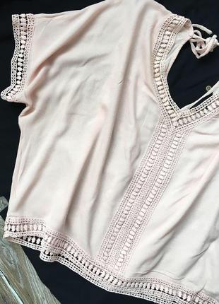 Очень красивая блуза пудрового цвета4 фото