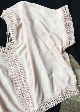 Очень красивая блуза пудрового цвета3 фото