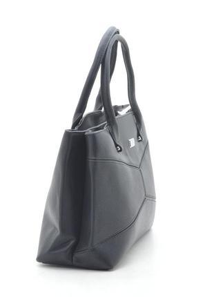 Женская сумка на два отделения 6107 черная2 фото