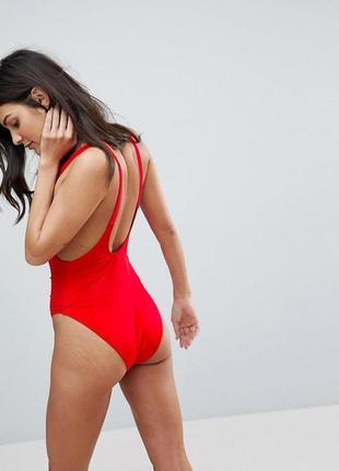 Купальник цельный, сдельный missguided ultimate plunge swimsuit